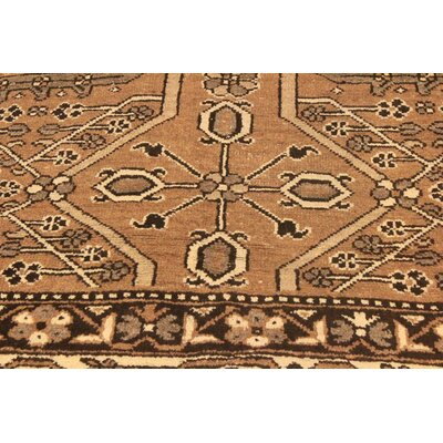 One-of-a-Kind Super Distressed Over Dyed Hand-Knotted Wool Brown/Ivory Area Rug