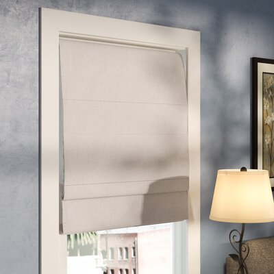 Richmond Blackout Roman Shade Size: 40 W x 72 L, Finish: Linen