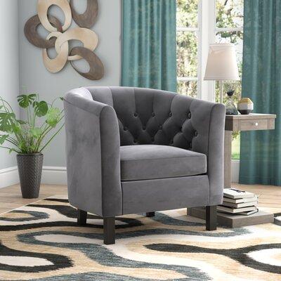 Ziaa Chesterfield Chair Upholstery: Gray