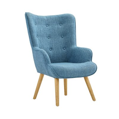 Dovercourt Accent Tufted Armchair Upholstery: Blue