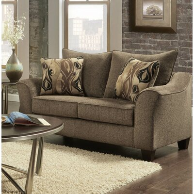 Clarwin Cafe Loveseat Finish: Camero Cafe