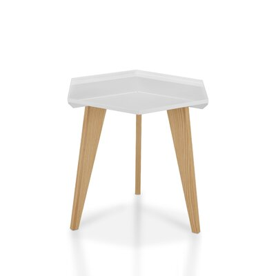 Eteuati End Table Color: White