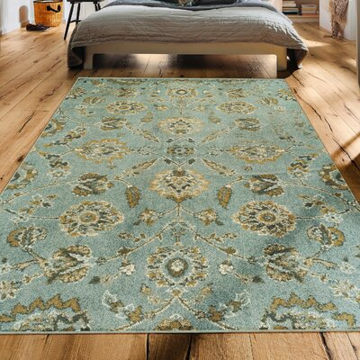 Prosser Contemporary Green Area Rug Rug Size: Rectangle 5 x 8