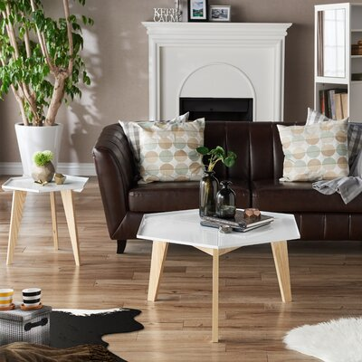 Eteuati Modern 2 Piece Coffee Table Set