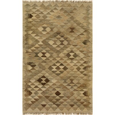 One-of-a-Kind Bakerstown Kilim Hand-Woven Wool Gray/Brown Area Rug
