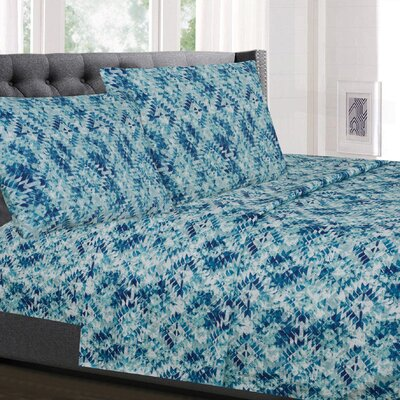 Lendler Geometric Microfiber Sheet Set Size: Twin