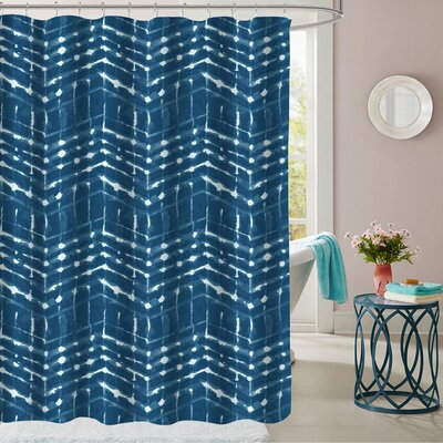 Columbia Point Polyester Shower Curtain