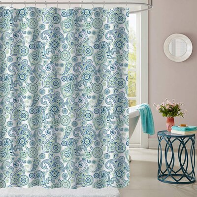 Hollen Modern Paisley Polyester Shower Curtain