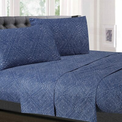 Zirkel Diamond Microfiber Sheet Set Size: Queen