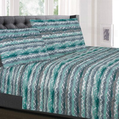 Molewski Zig Zag Microfiber Sheet Set Size: California King