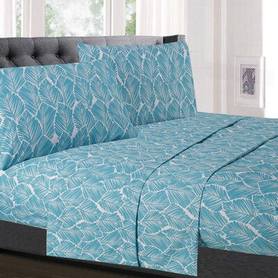 Micelotta Leaf Microfiber Sheet Set Size: California King