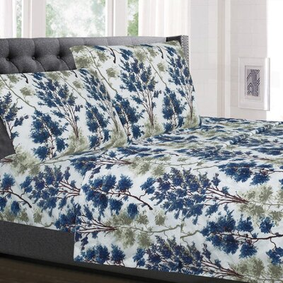 Hohman Floral Microfiber Sheet Set Size: Queen