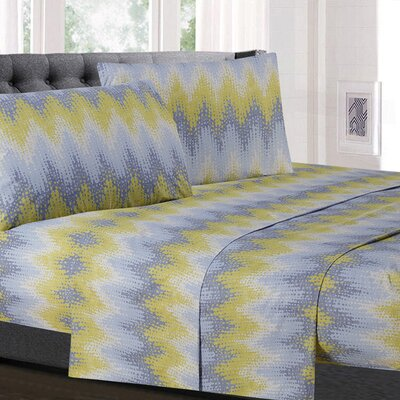 Birus Chevron Microfiber Sheet Set Size: Twin