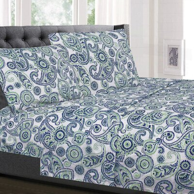 Holler Modern Paisley Supreme Microfiber Sheet Set Size: Twin