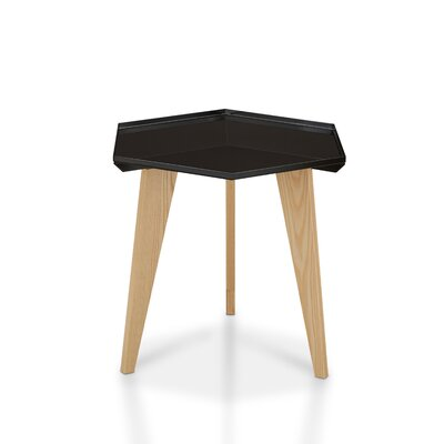 Eteuati End Table Color: Black