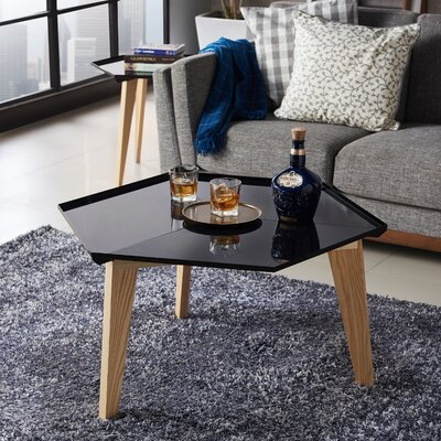 Eteuati Coffee Table Table Top Color: Black