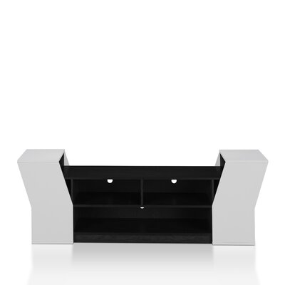 Weidel 71 TV Stand Color: Black