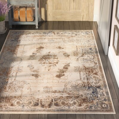 Abbeville Cream Area Rug Rug Size: Rectangle 5 x 8
