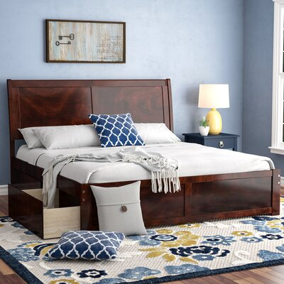 Wrington King Storage Platform Bed Color: Antique Walnut