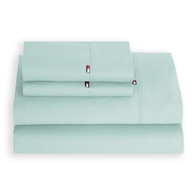 Signature 200 Thread Count 100% Cotton Sheet Set Size: Queen, Color: Icy Morn