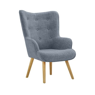 Dovercourt Accent Tufted Armchair Upholstery: Light Gray