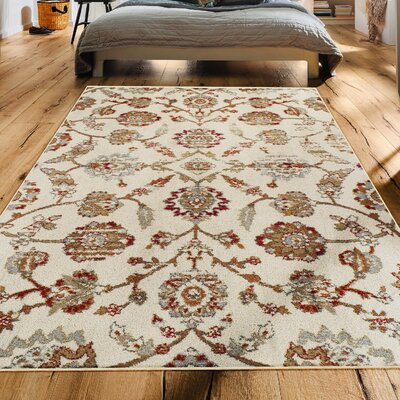 Proto Contemporary Ivory Area Rug Rug Size: Runner 27 x 8