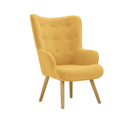 Dovercourt Accent Tufted Armchair Upholstery: Yellow