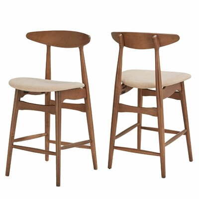 Drye 23 Bar Stool Color: Dark Walnut