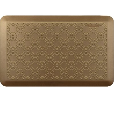 Jhonson Moroccan Kitchen Mat Mat Size: Rectangle 18 x 28, Color: Brushed Gold