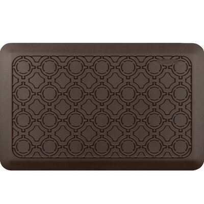 Jhonson Moroccan Kitchen Mat Mat Size: Rectangle 18 x 28, Color: Espresso