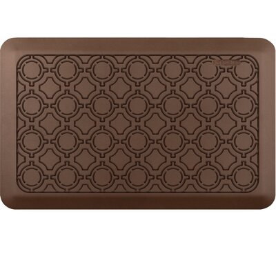 Jhonson Moroccan Kitchen Mat Mat Size: Rectangle 18 x 28, Color: Coffee