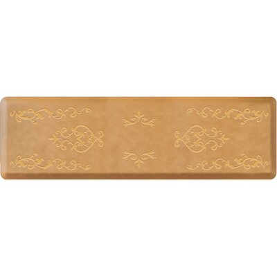 Jewell Kitchen Mat Color: Champagne