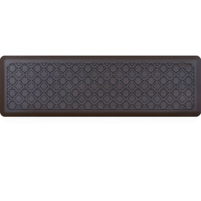 Jhonson Moroccan Kitchen Mat Mat Size: Rectangle 18 x 56, Color: Walnut