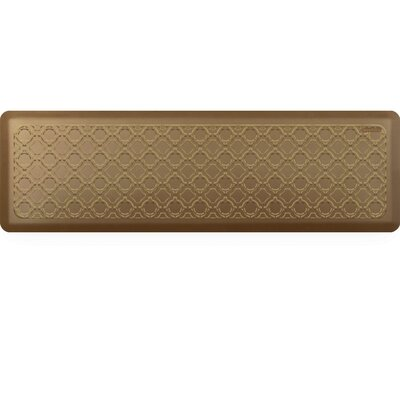 Jhonson Moroccan Kitchen Mat Mat Size: Rectangle 18 x 56, Color: Brushed Gold