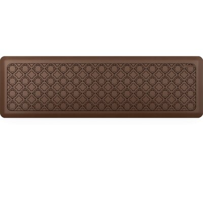 Jhonson Moroccan Kitchen Mat Mat Size: Rectangle 18 x 56, Color: Coffee