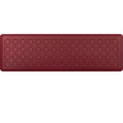 Jhonson Moroccan Kitchen Mat Mat Size: Rectangle 18 x 56, Color: Merlot