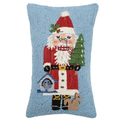 Fielder Santa Nutcracker Hook Wool Throw Pillow