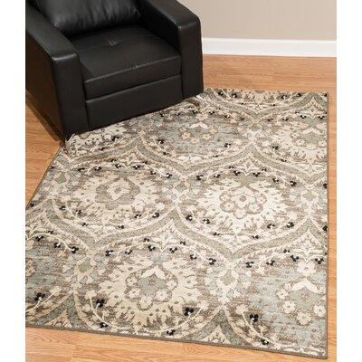 Kindel Beige Area Rug Rug Size: Rectangle 5 x 8