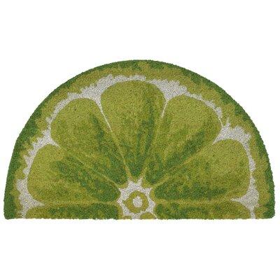 Brookstone Lemon Utility Mat Color: Green