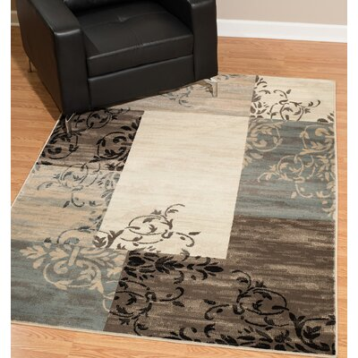 Hillside Avenue Beige/Gray Area Rug Rug Size: Rectangle 5 x 8