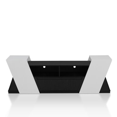 Wistrom 71 TV Stand Color: Black and White