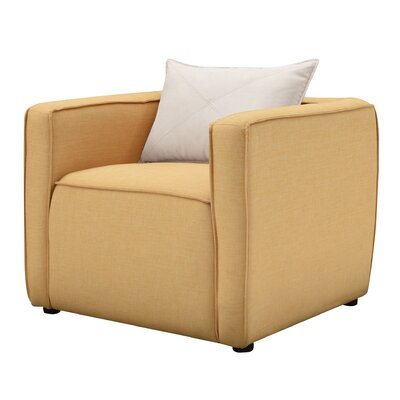 Mcgrady Armchair Upholstery: Linen, Finish: Yellow