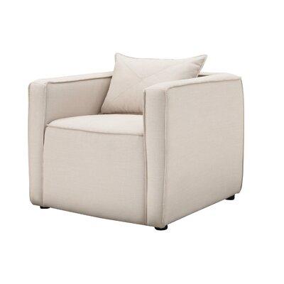 Mcgrady Armchair Upholstery: Linen, Finish: Cream