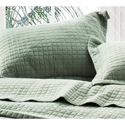 Mccollom Supersoft Pre-Washed Sham Size: Standard Sham, Color: Moss Green