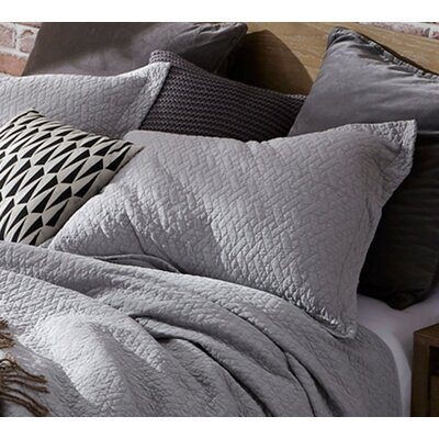Mccollom Supersoft Pre-Washed Sham Size: King Sham, Color: Tundra Gray
