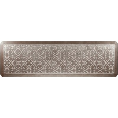 Jhonson Moroccan Kitchen Mat Mat Size: Rectangle 18 x 56, Color: Iced Toffee