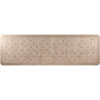 Jhonson Moroccan Kitchen Mat Mat Size: Rectangle 18 x 56, Color: Cashew