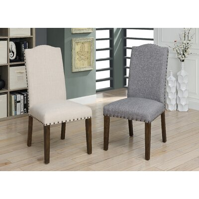 Auttenberg Upholstered Dining Chair Upholstery Color: Light Gray