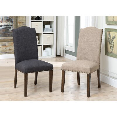 Auttenberg Upholstered Dining Chair Upholstery Color: Brown