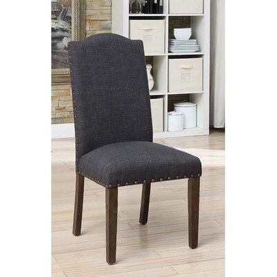 Auttenberg Upholstered Dining Chair Upholstery Color: Dark Gray